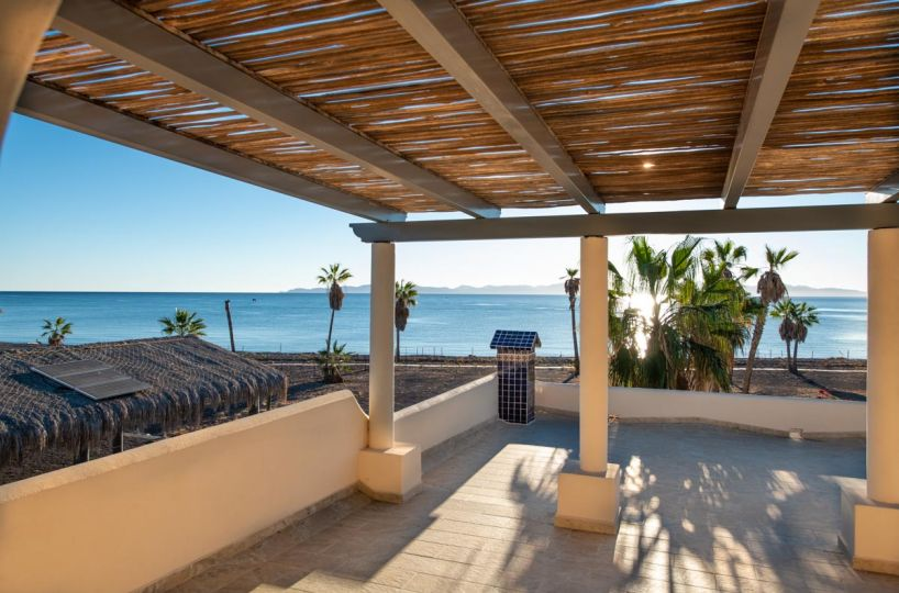 New Beachfront Home in Mil Palmas, Loreto Baja Sur: upstairs covered porch