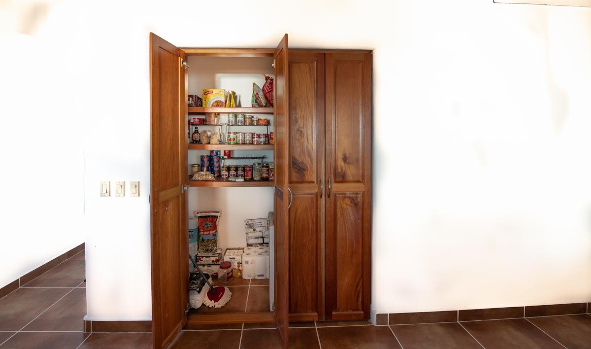 New Beachfront Home in Mil Palmas, Loreto Baja Sur: upstairs kitchen pantry