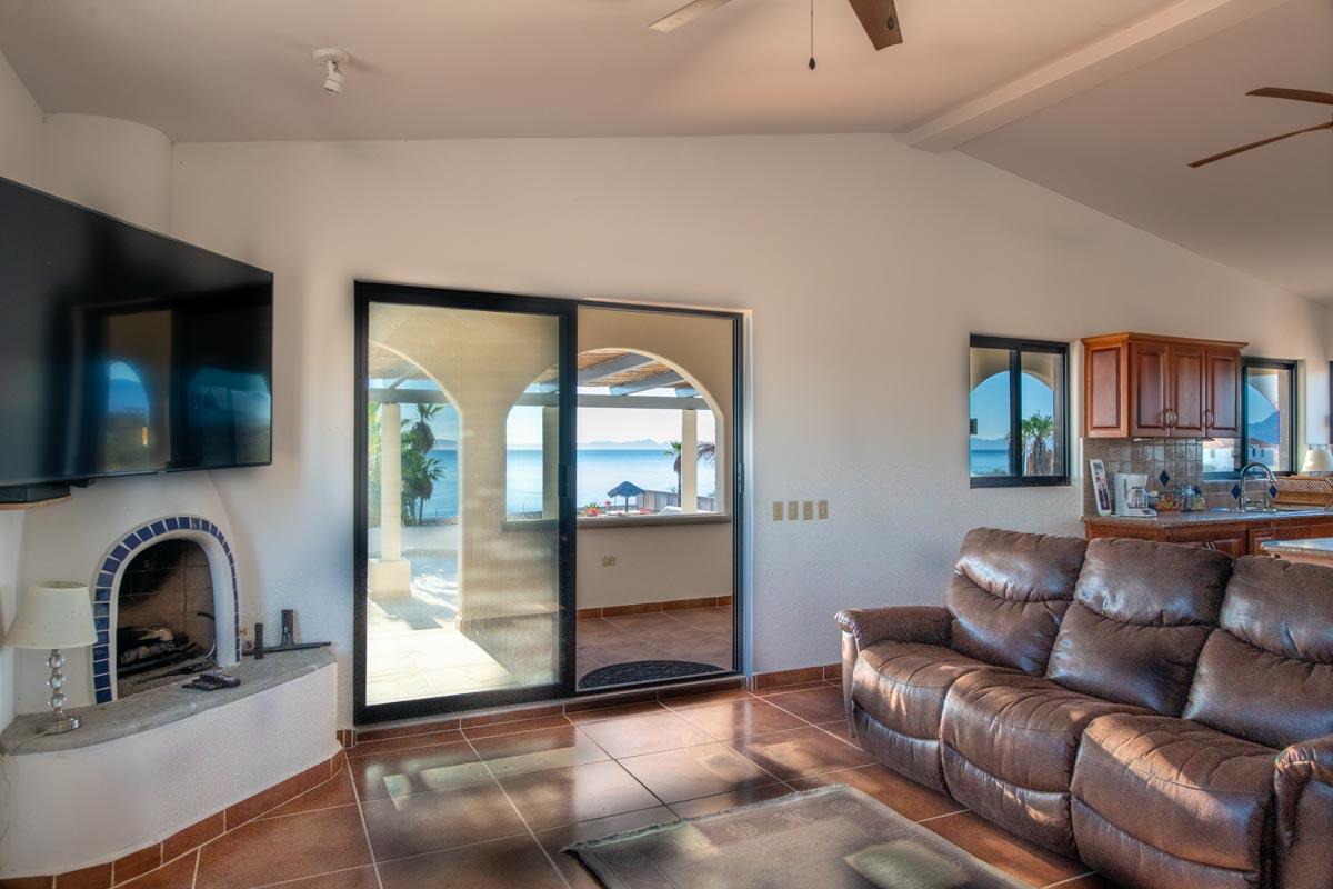 New Beachfront Home in Mil Palmas, Loreto Baja Sur: upstairs living area
