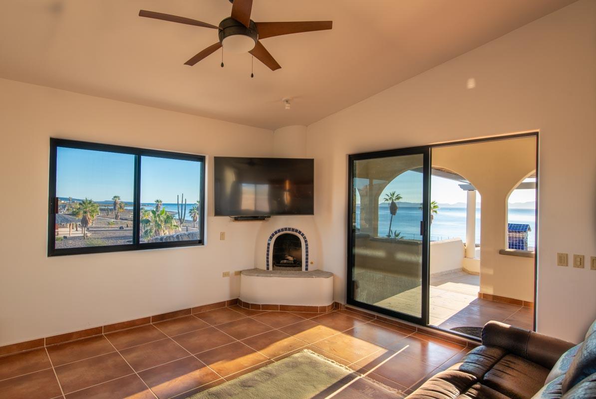 New Beachfront Home in Mil Palmas, Loreto Baja Sur: upstairs living room
