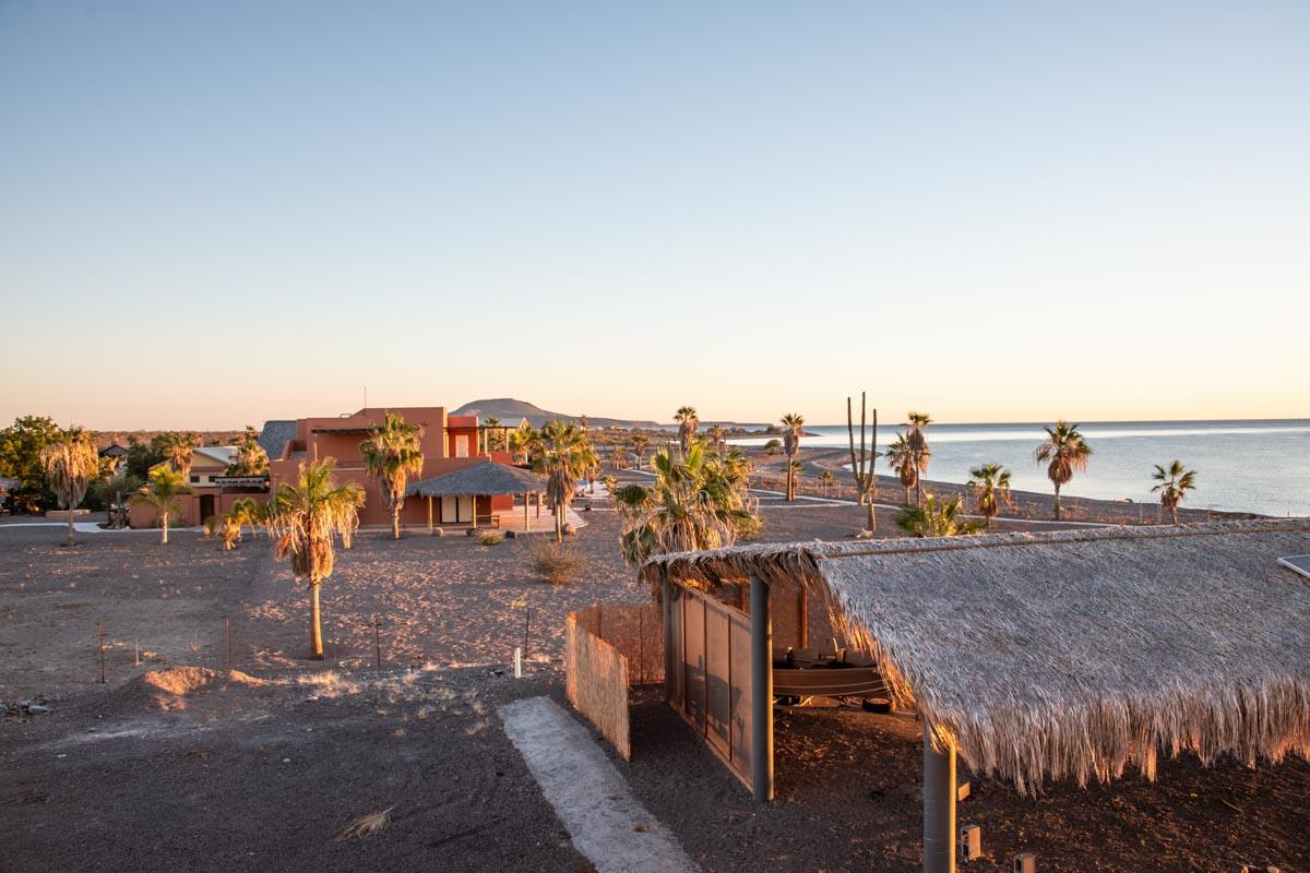 New Beachfront Home in Mil Palmas, Loreto Baja sur: view looking North