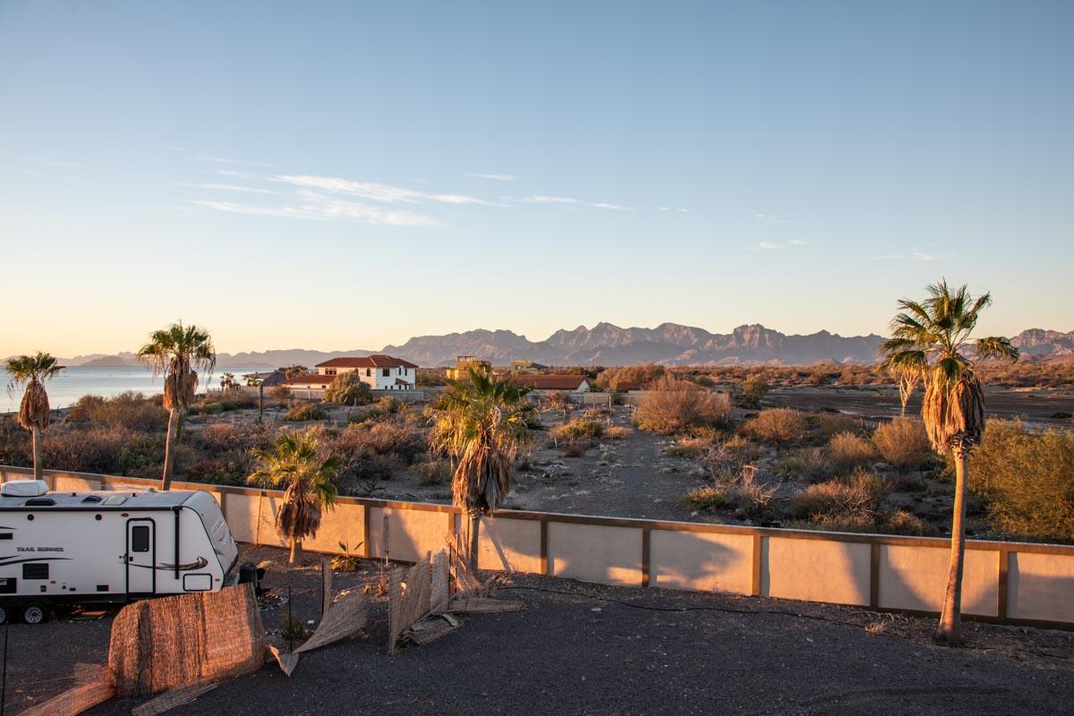 New Beachfront Home in Mil Palmas, Loreto Baja sur: view looking south