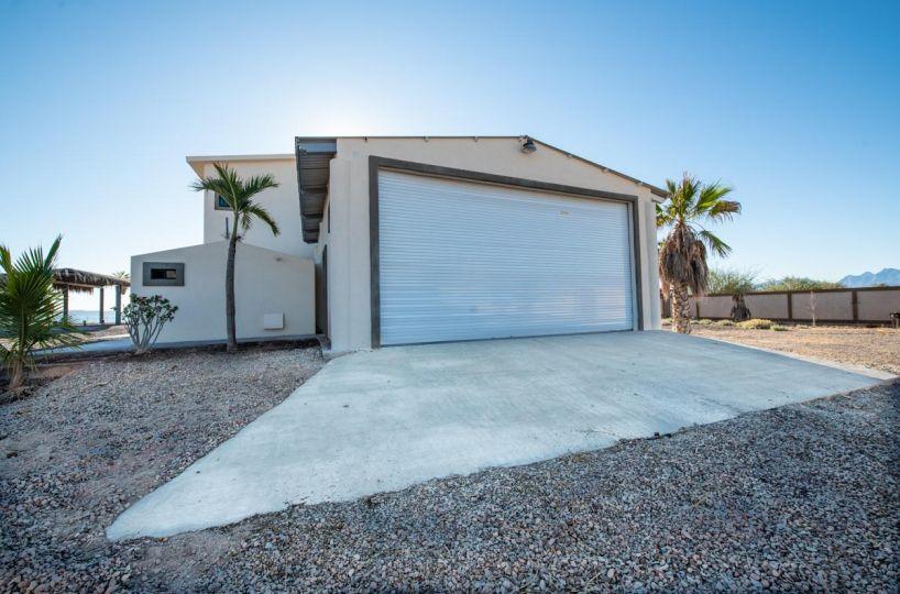 New Beachfront Home in Mil Palmas, Loreto Baja Sur: view of garage A