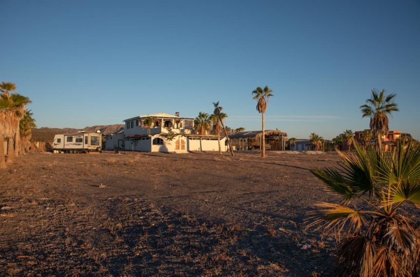 New Beachfront Home in Mil Palmas, Loreto Baja Sur: view of the house from beach