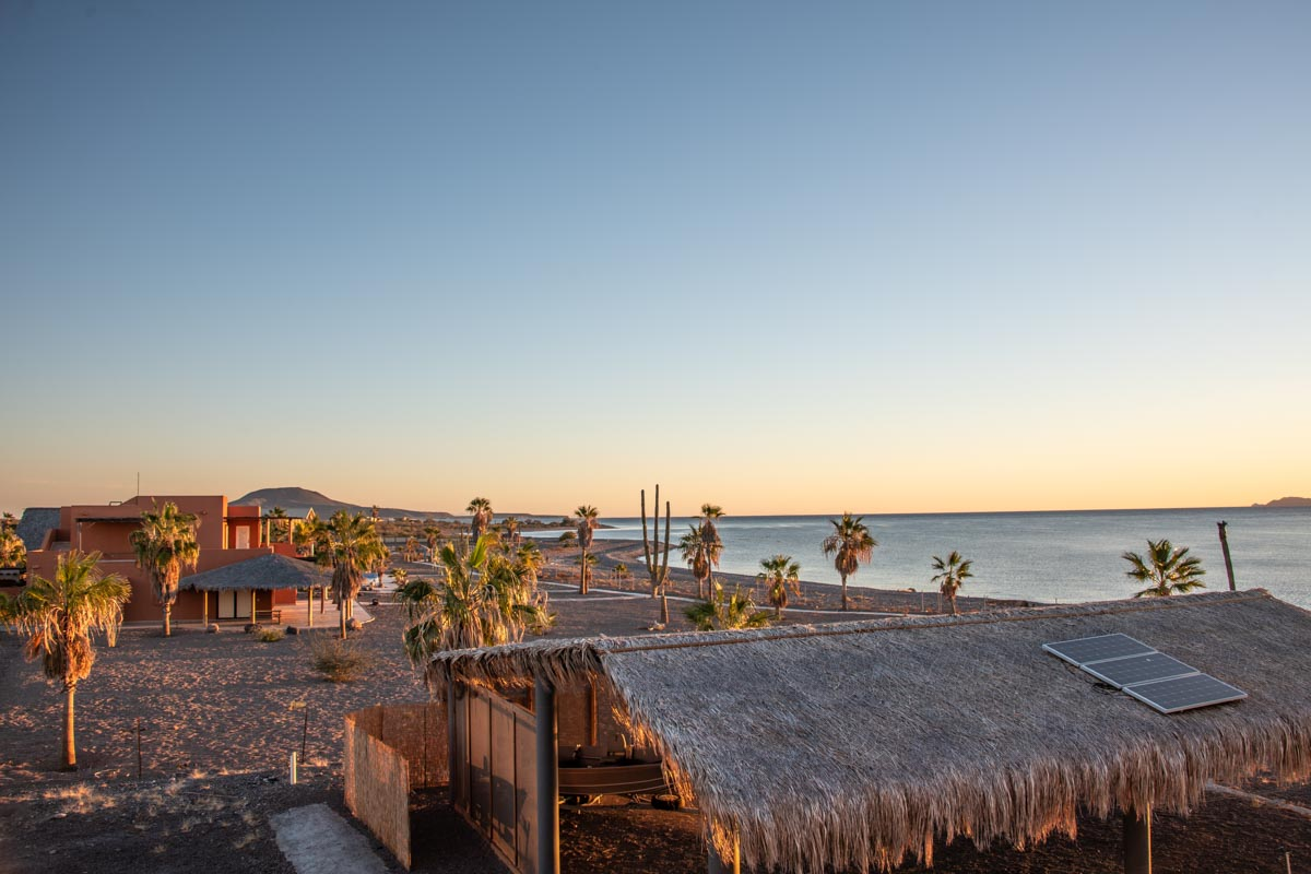 New Beachfront Home in Mil Palmas, Loreto Baja Sur: view to the North