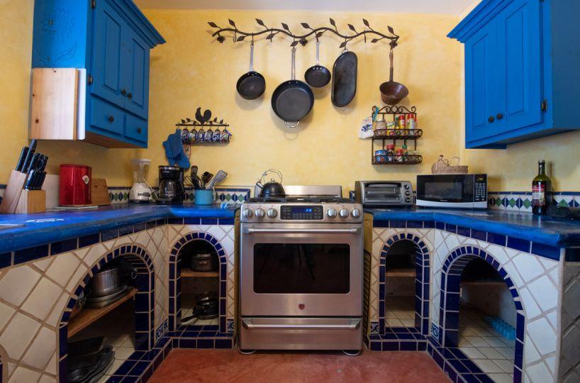 Beautifully restored four bedroom adobe home Adobe casa kitchen