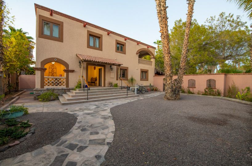 Beautifully restored four bedroom adobe home Front of Casa walking in from St
