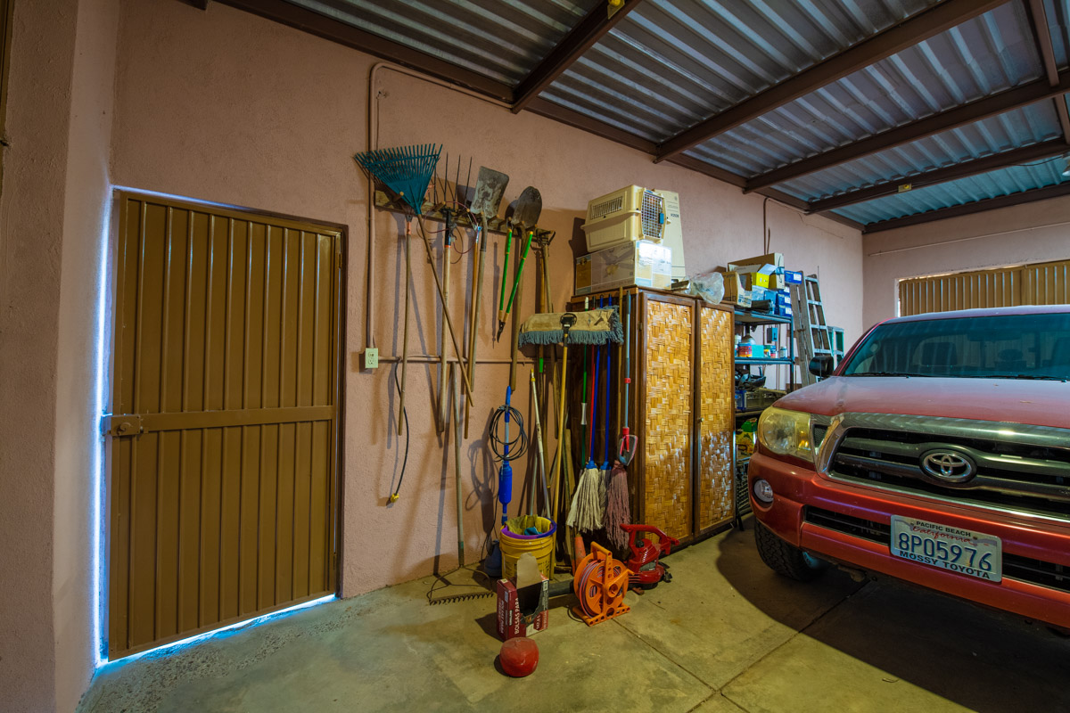 Beautifully restored four bedroom adobe home Garage door to yard