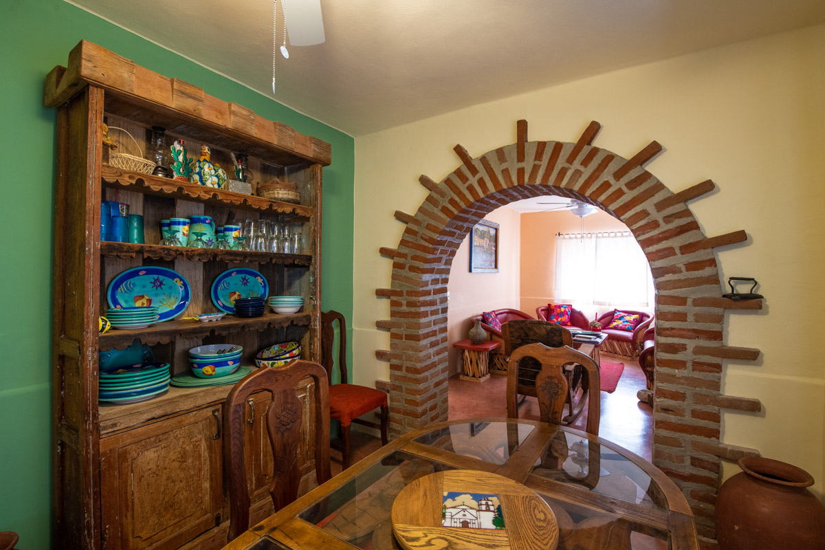Beautifully restored four bedroom adobe home dining and living