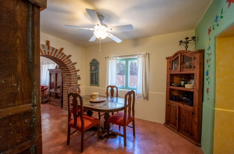 Beautifully restored four bedroom adobe home dining room