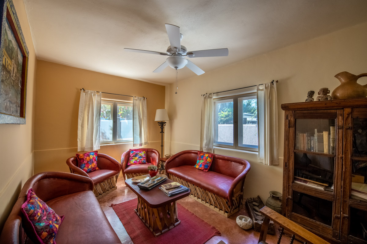 Beautifully restored four bedroom adobe home downstairs living room