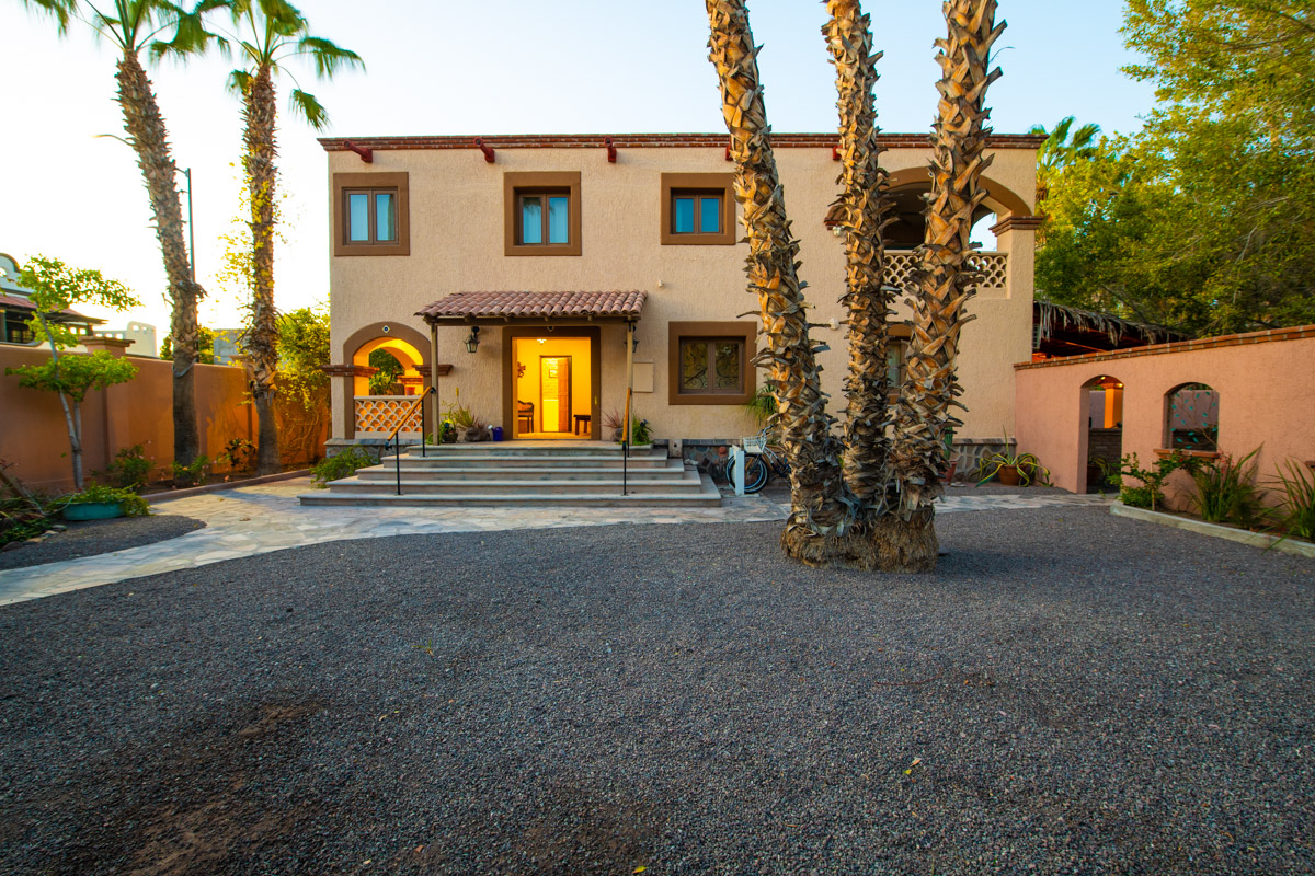 Beautifully restored four bedroom adobe home front of casa