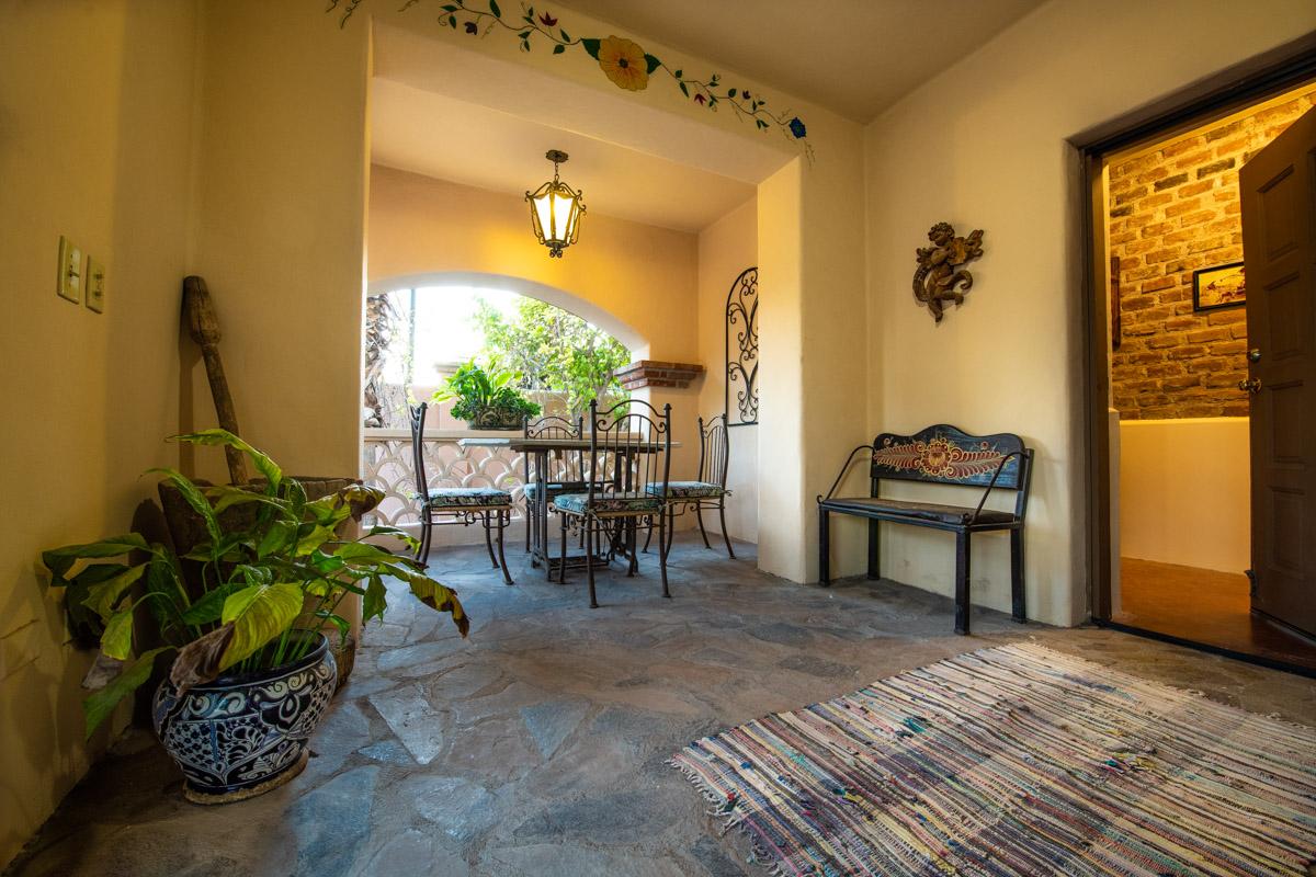 Beautifully restored four bedroom adobe home hallway