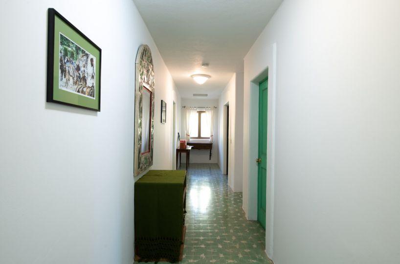Beautifully restored four bedroom adobe home upstairs Hallway looking East