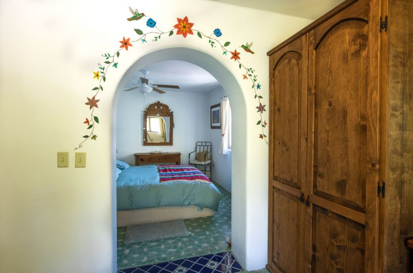 Beautifully restored four bedroom adobe home upstairs bedroom