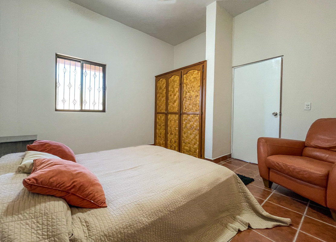 2 bed/2bath casa in private community: downstairs bedroom.