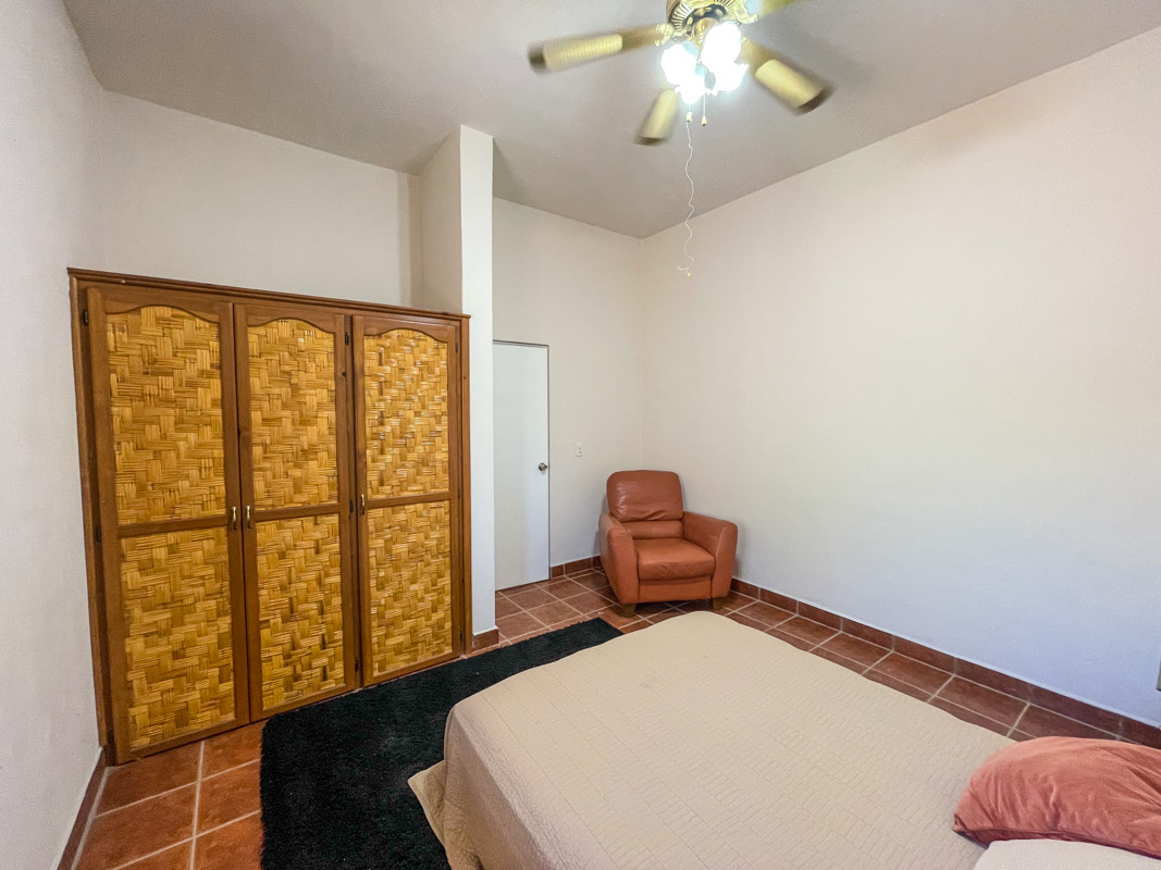 2 bed/2bath casa in private community: bedroom downstairs.