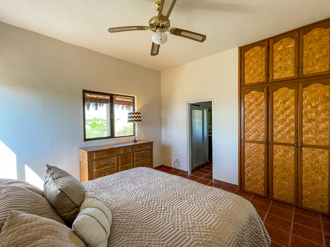 2 bed/2bath casa in private community: bedroom upstairs.