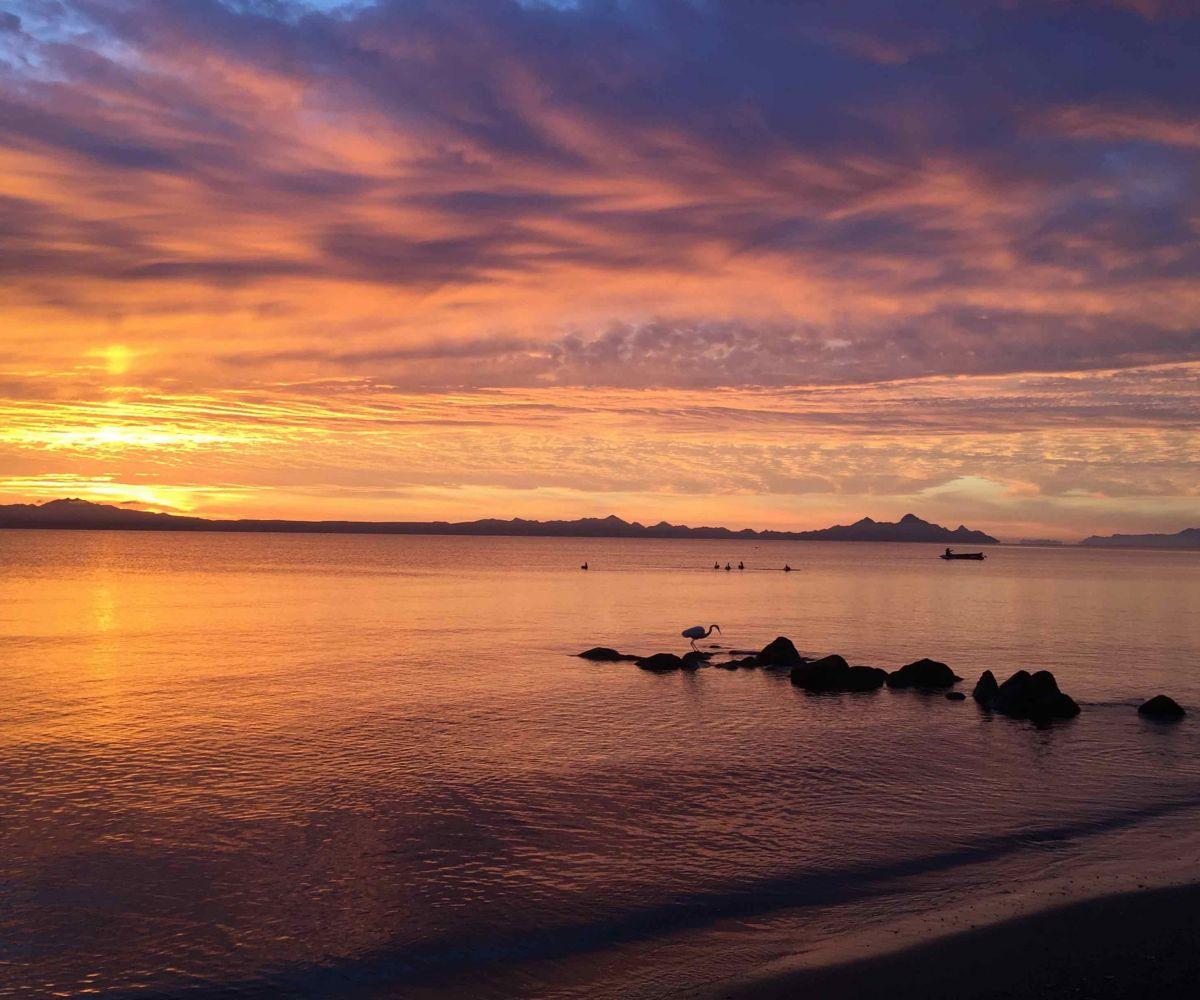 2 bed/2bath casa in private community: Sunrise over Carmen Island.