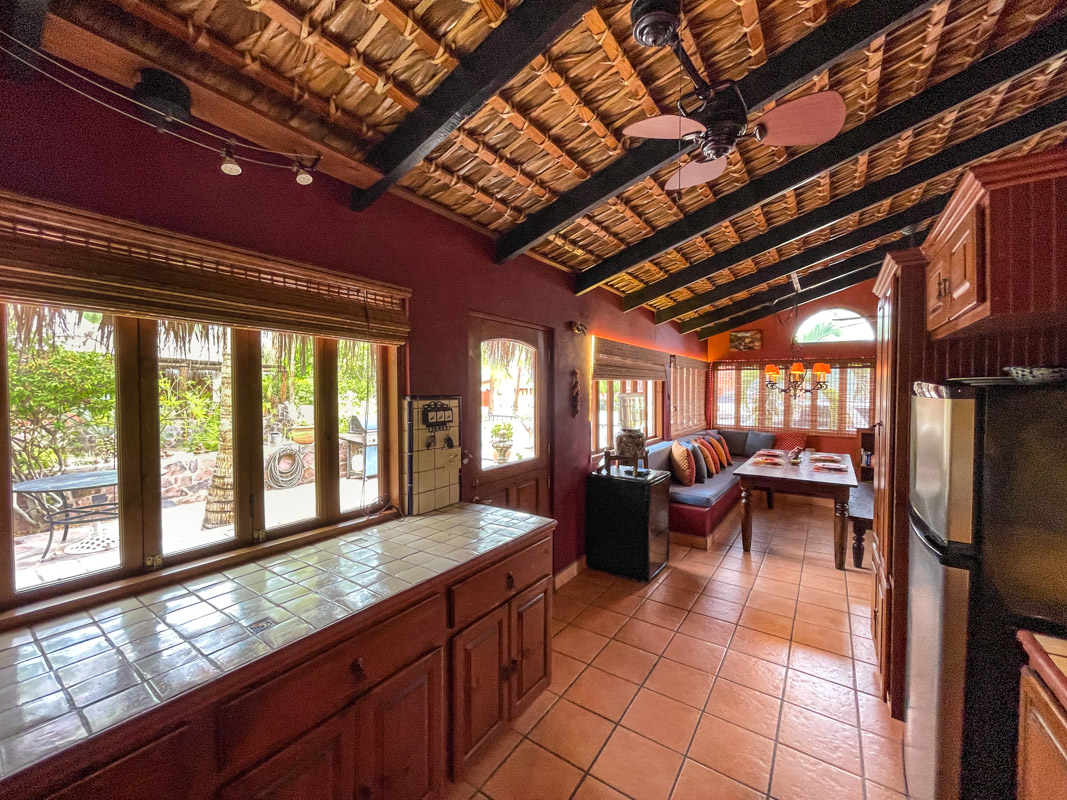2 bed/2bath casa in private community: comfortable living room.