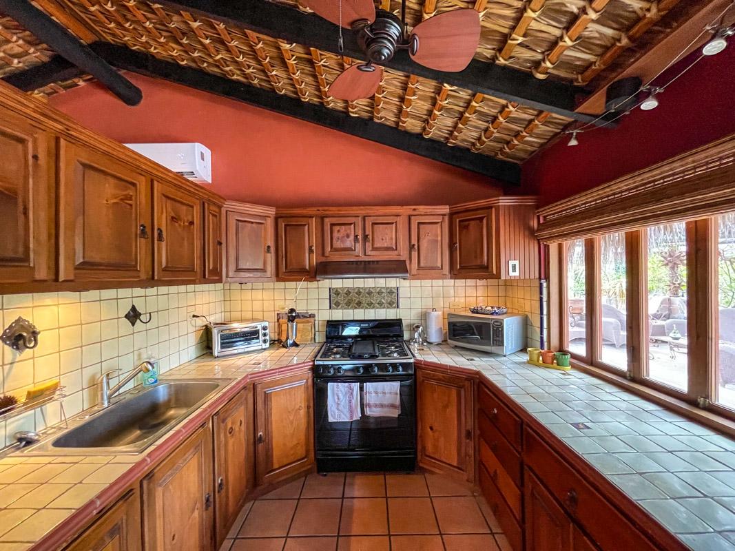 2 bed/2bath casa in private community: bright and sunny kitchen.