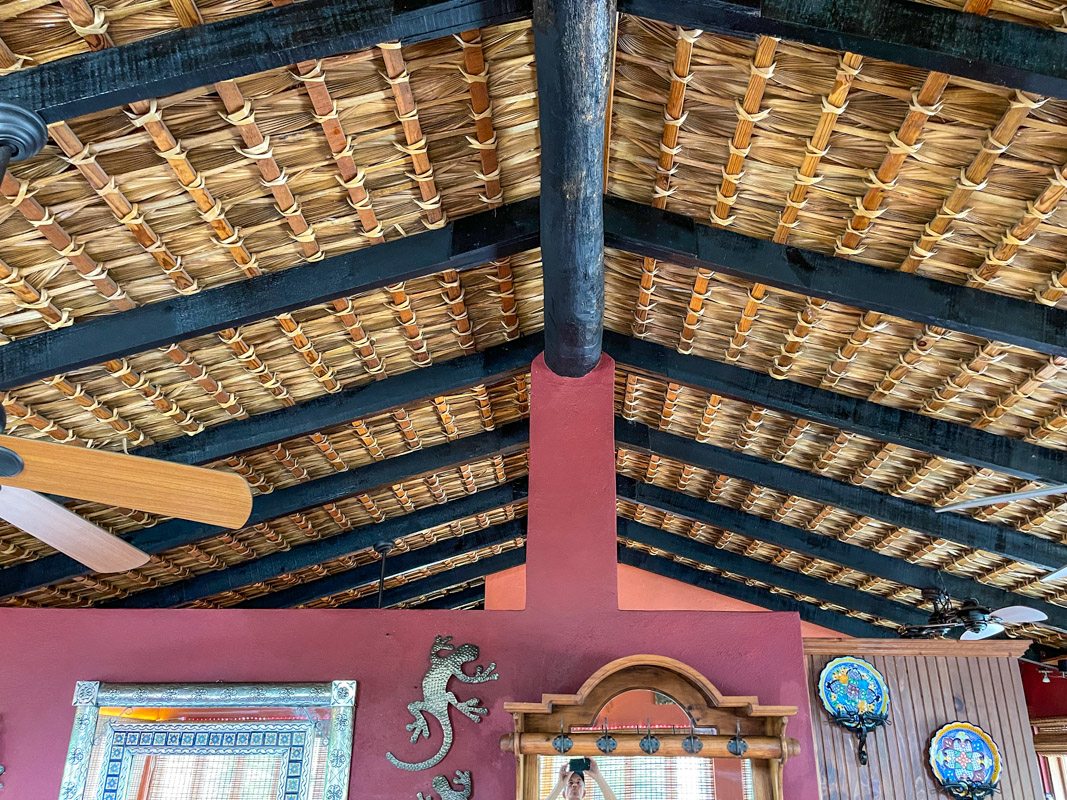 2 bed/2bath casa in private community: handcrafted palapa roof.