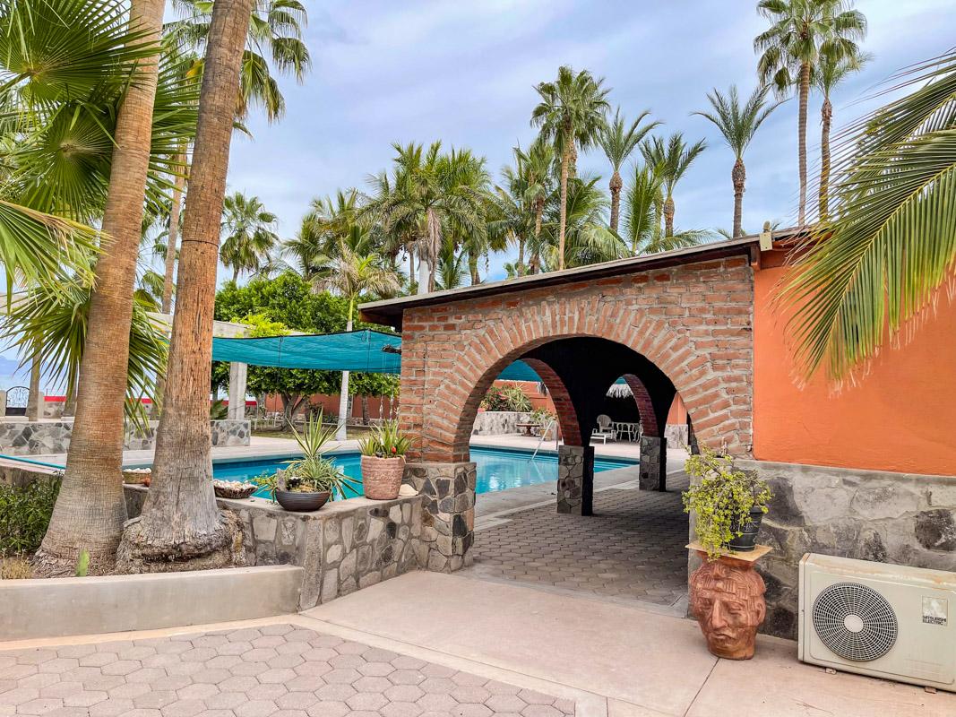 2 bed/2bath casa in private community: pool area.